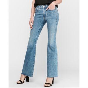 EXPRESS High Waisted Hyper Stretch Slim Flare Jean